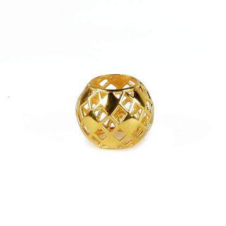 916 Gold Charm Gold Tips Basket Bead
