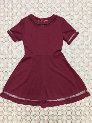 Red Dress Maroon Dress