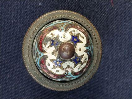 舊銅嵌絲琺瑯配件