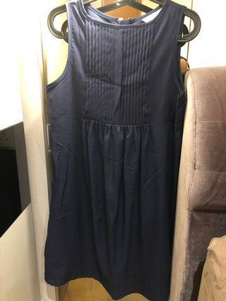 🚚 Maternity Dress Navy Blue - (L size)