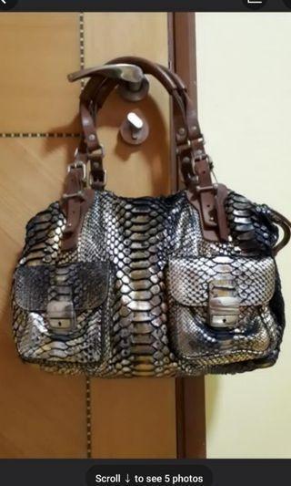 Pauric Sweeney Python Skin Bag Python Leather Bag Snakeskin Bag Snake Skin Bag