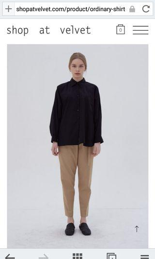 Shop at Velvet Ordinary Shirt Black