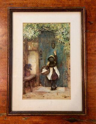 Vintage THE VISITOR Print & Framed By Arthur Hopkins