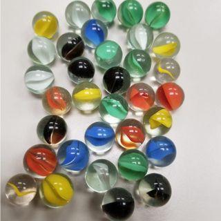 玻璃彩色波子(34粒)