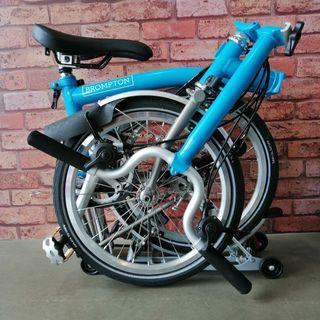 💙 2017 Brompton Super Sale 💙 M type Handlebar ☄️ Titanium 6RX ☄️ Lagoon Blue ☄️ Only at $3475