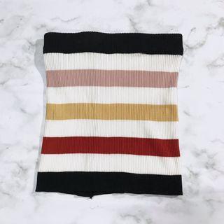 針織彩虹平口上衣