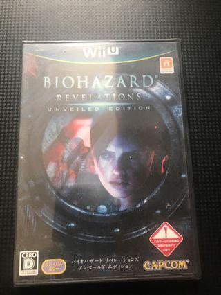 Wiiu Biohazard revelation 日版