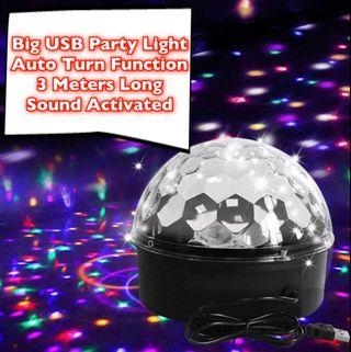 Big One Sound Activated Party Lights, Voice Activated USB Crystal Magic Ball Led Stage Disco Ball