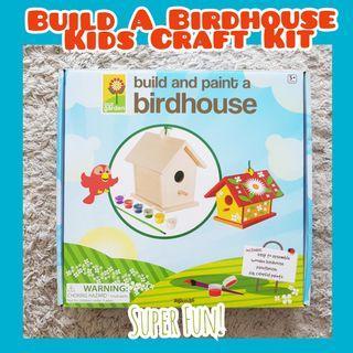 Kids Craft Toy Build A Birdhouse Craft Set