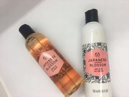 🚚 The Body Shop Japanese Cherry Blossom Body Lotion and Shower Gel (250ml)