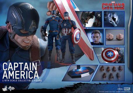 🚚 Hot Toys Captain America Civil War
