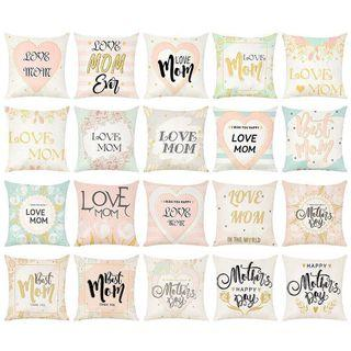 Mother's Day Linen Cushion Cover Prints