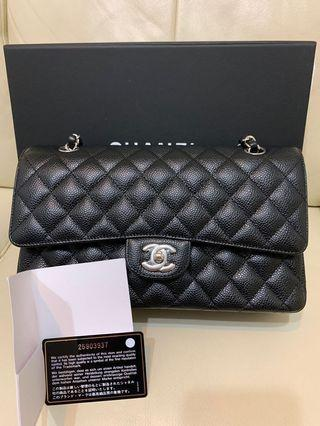 Chanel classic 25cm medium A01112 牛皮荔枝皮銀錬