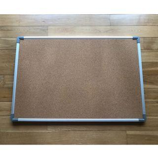 Rectangular Cork Pin Board with Aluminium Frame - Excellent Condition!