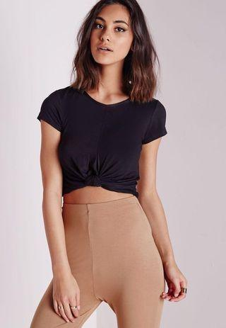 MISSGUIDED Knot Crop Top