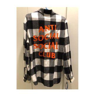 🚚 Anti social social club 法蘭絨襯衫
