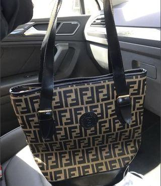 Fendi Zucca Tote bag handbag vinyl and coated canvas