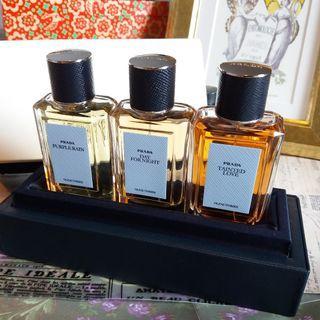 🔮 全新 Prada Olfactories 香水皮革禮盒套裝 非賣品 ✨
