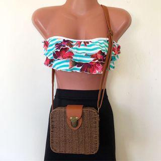 Dark Brown Beach Bag