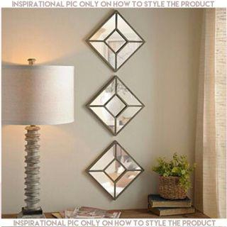 🌈RESTOCKED🌈3pc/set MIRROR Wall Decor in Gold Frame