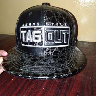TAGOUT Leather Snapback Original/Authentic