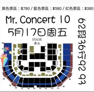 出售頭埸380票 Mr. 紅館演唱會