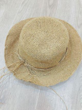🚚 100% 草編織涼帽🎩 太陽超大超需要 涼爽透氣不悶熱