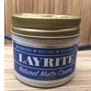 layrite natural matte cream 髮油 髮蠟