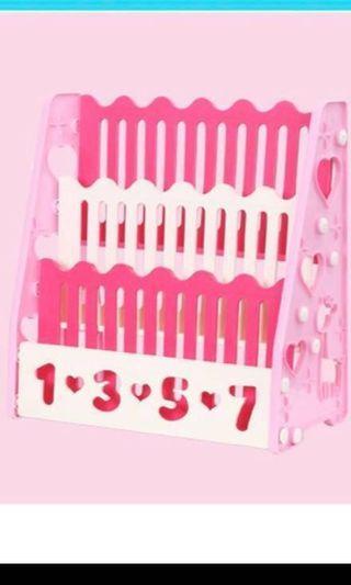 BN Pink Plastic Book shelf storage rack