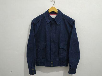 Jaket denim Giga Leather size S Luar fit M lokal