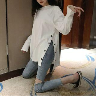 [po] slit sweater