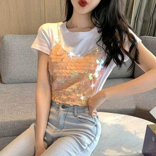 [po] fake two pieced mermaid scales top