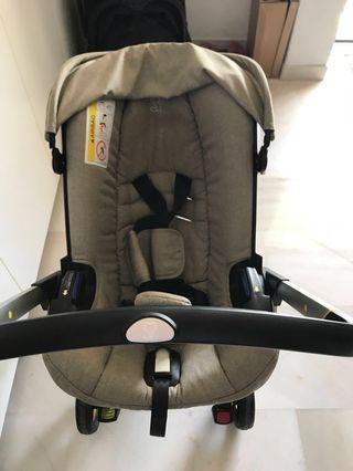 Doona Infant Car Seat/Stroller in Sand Dune (Beige)