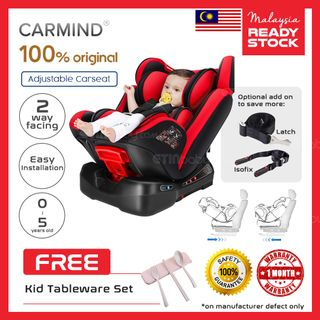 754ff2607cb Carmind Convertible Baby Car Seat Recline fully for Newborn~5 years old -  Red