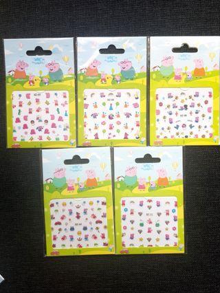 Children Nail Stickers (Peppa Pig/Elsa/Pony/Hello Kitty)