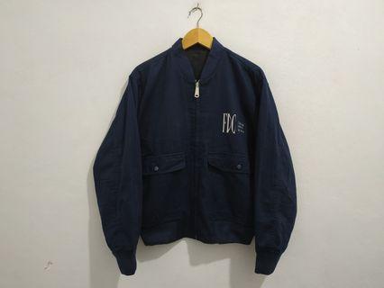 Vintage bomber jacket reversible bolak balik