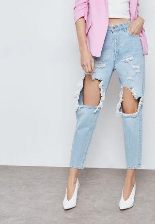 Bardot size 7 ripped jeans