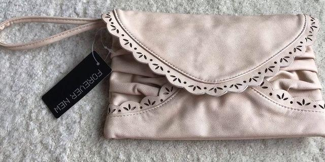 Forever New Envelope Scallop Clutch