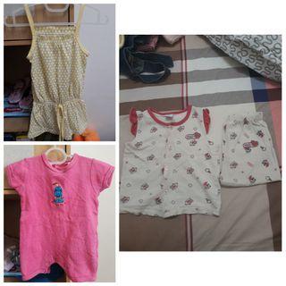 (All for RM5) Disney Baby Pyjamas, Baby Girl