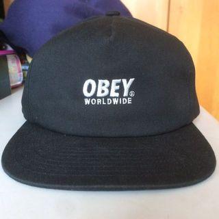 🚚 Obey 全黑 板帽 SnapBack 正品 棒球帽 #好物任你換