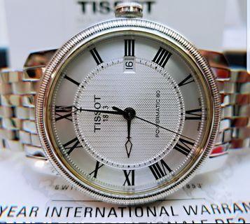 真品行貨透底大錶頭Tissot全鋼全自動日曆全套齊95%New((不議價))