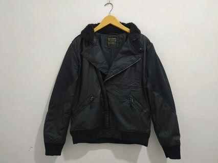 UniqloXKiminori Morishita biker coated Jacket tahan bara