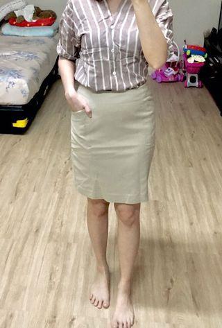 Creme Span Skirt