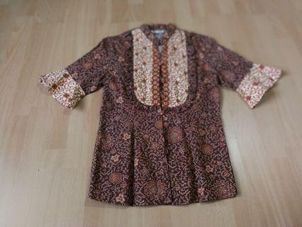 Batik Keris Shirt brown maroon