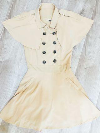 MiLA 加州購入超氣質斗篷Burberry 風格stye洋裝