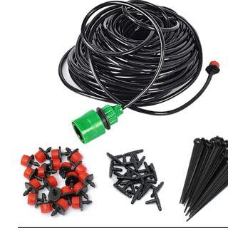 Plant Garden Water Irrigation Kit Set Micro Drip Watering System 5m