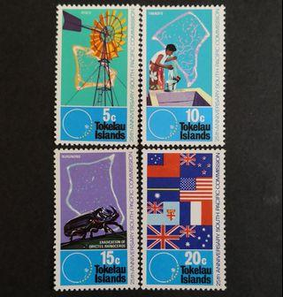 Tokelau Islands 1972. The 25th Anniversary of South Pacific Commission complete stamp set