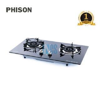 Phison 2 Burners Built In Gas Cooker Glass Hob (PGC-701)