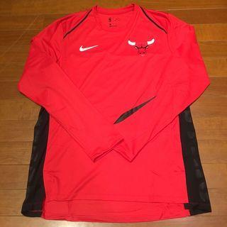 Nike NBA Bulls 日本限定 男運動籃球長袖T恤 芝加哥公牛團隊練習熱身衣 客場配色 飛人Jordan XL