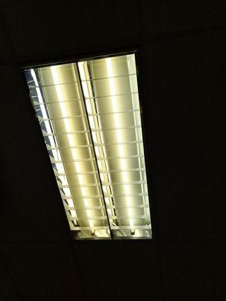 Recessed office Lighting in carton box
